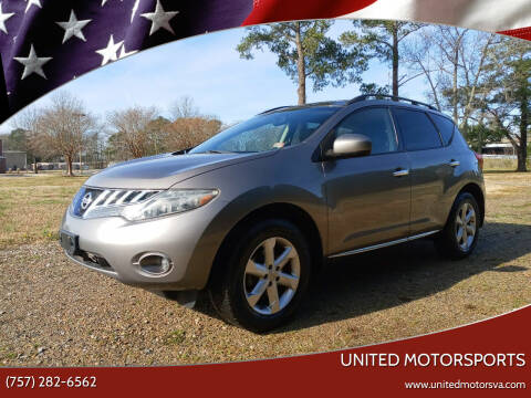 2009 Nissan Murano for sale at United Motorsports in Virginia Beach VA