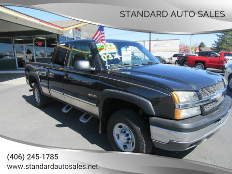2003 Chevrolet Silverado 2500 for sale at Standard Auto Sales in Billings MT