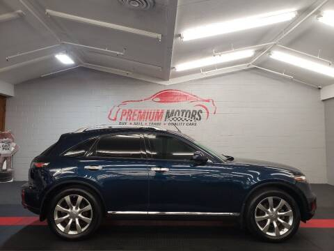 2007 Infiniti FX35 for sale at Premium Motors in Villa Park IL