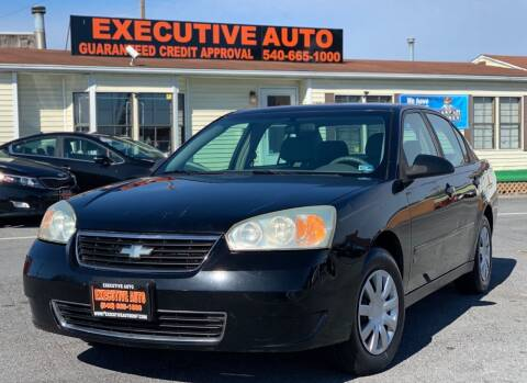 2006 Chevrolet Malibu for sale at Executive Auto in Winchester VA