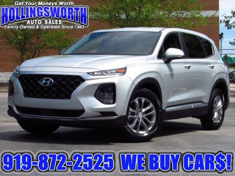 2019 Hyundai Santa Fe for sale at Hollingsworth Auto Sales in Raleigh NC