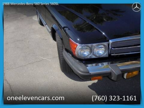 1988 Mercedes-Benz 560-Class for sale at One Eleven Vintage Cars in Palm Springs CA