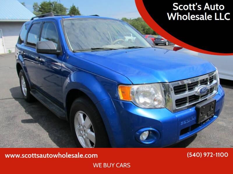 2011 Ford Escape for sale at Scott's Auto Wholesale LLC in Locust Grove VA