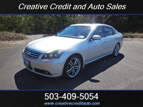 2007 Infiniti M35 for sale at Creative Credit & Auto Sales in Salem OR