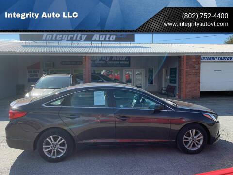 2016 Hyundai Sonata for sale at Integrity Auto LLC - Integrity Auto 2.0 in St. Albans VT