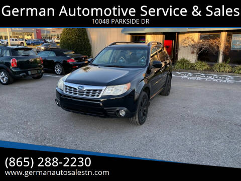 2011 Subaru Forester for sale at German Automotive Service & Sales in Knoxville TN