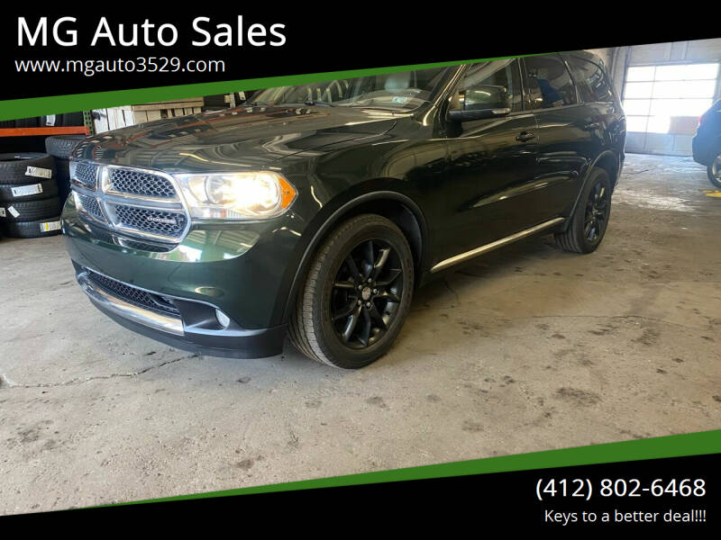 2011 Dodge Durango for sale at MG Auto Sales in Pittsburgh PA