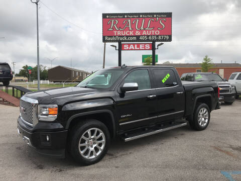 2015 GMC Sierra 1500 for sale at RAUL'S TRUCK & AUTO SALES, INC in Oklahoma City OK