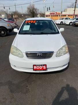 2006 Toyota Corolla for sale at Rod's Automotive in Cincinnati OH