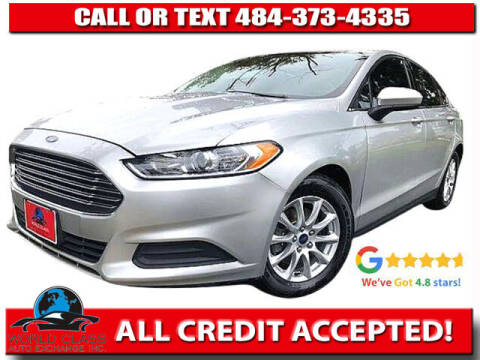 2015 Ford Fusion for sale at World Class Auto Exchange in Lansdowne PA