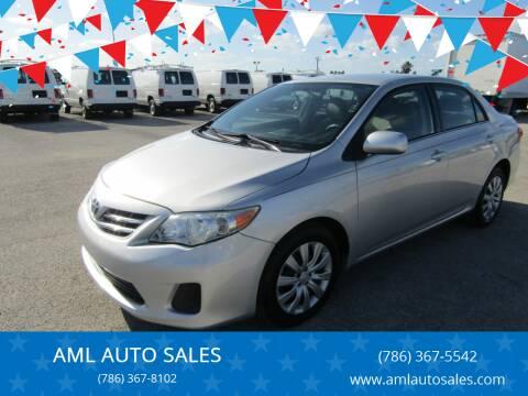 2013 Toyota Corolla for sale at AML AUTO SALES - Sedans/SUV's in Opa-Locka FL