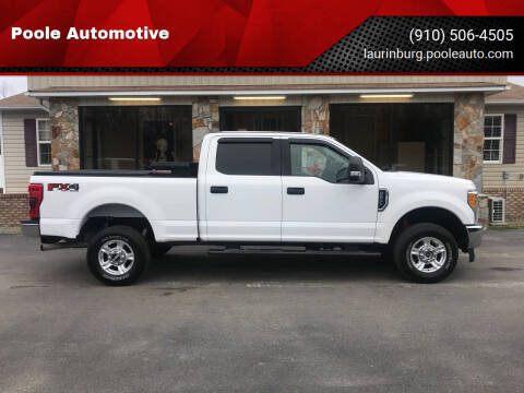 2017 Ford F-250 Super Duty for sale at Poole Automotive in Laurinburg NC