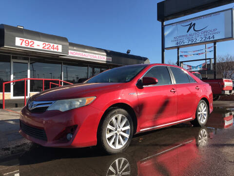 2012 Toyota Camry Hybrid for sale at NORRIS AUTO SALES in Oklahoma City OK