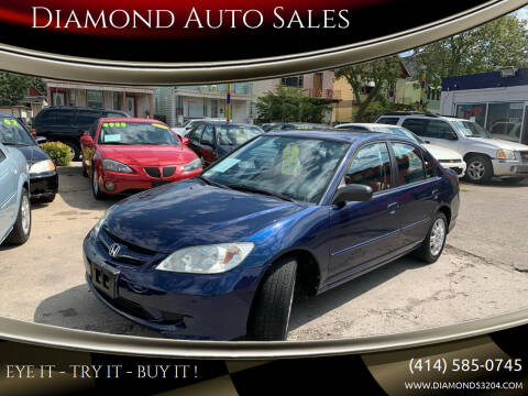 2005 Honda Civic for sale at Diamond Auto Sales in Milwaukee WI