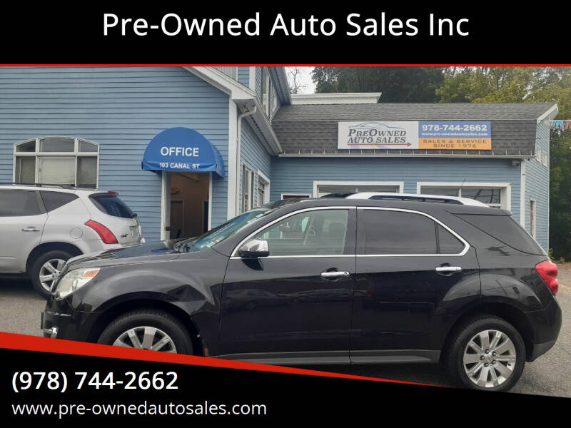 2011 Chevrolet Equinox for sale at Pre-Owned Auto Sales Inc in Salem MA