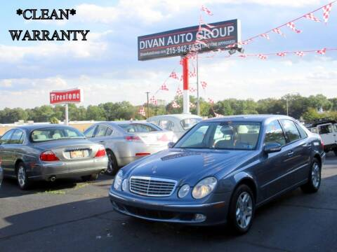2003 Mercedes-Benz E-Class for sale at Divan Auto Group in Feasterville PA