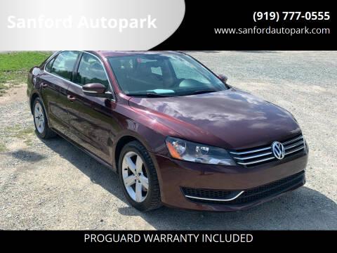 2013 Volkswagen Passat for sale at Sanford Autopark in Sanford NC