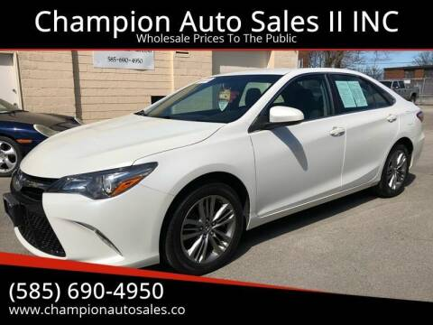 2016 Toyota Camry for sale at Champion Auto Sales II INC in Rochester NY