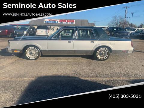 1989 Lincoln Town Car for sale at Seminole Auto Sales in Seminole OK