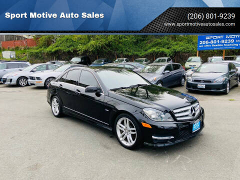 2012 Mercedes-Benz C-Class for sale at Sport Motive Auto Sales in Seattle WA