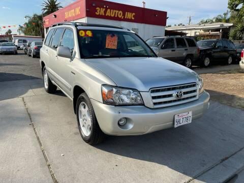 2004 Toyota Highlander for sale at 3K Auto in Escondido CA