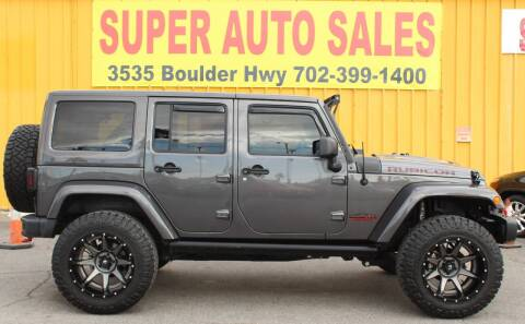 2017 Jeep Wrangler Unlimited for sale at Super Auto Sales in Las Vegas NV