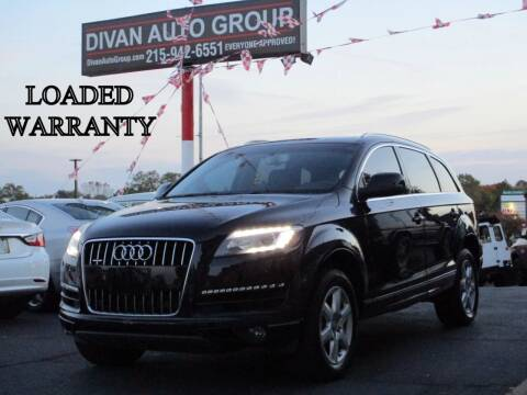 2013 Audi Q7 for sale at Divan Auto Group in Feasterville PA