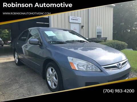 2007 Honda Accord for sale at Robinson Automotive in Albermarle NC