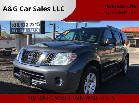 2012 Nissan Pathfinder for sale at A&G Car Sales  LLC in Tucson AZ