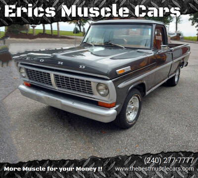 1972 Ford F-100 for sale at Erics Muscle Cars in Clarksburg MD