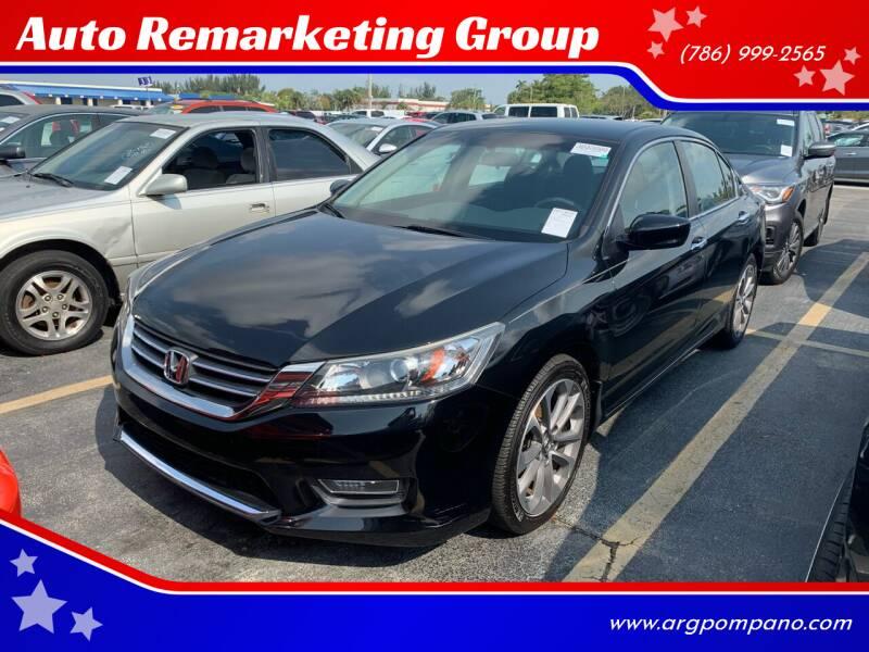 2013 Honda Accord for sale at Auto Remarketing Group in Pompano Beach FL