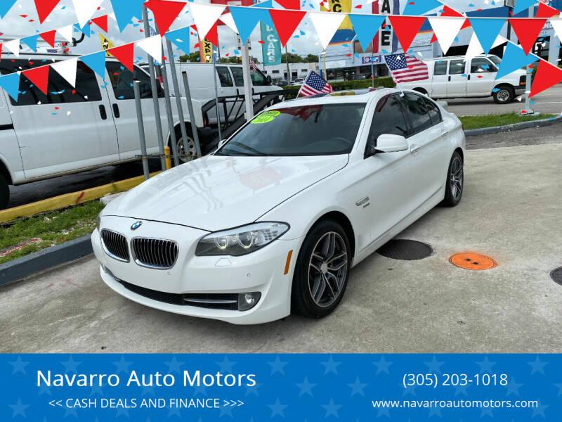 2011 BMW 5 Series for sale at Navarro Auto Motors in Hialeah FL