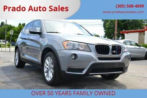2013 BMW X3 for sale at Prado Auto Sales in Miami FL
