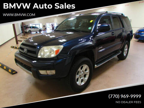 2003 Toyota 4Runner for sale at BMVW Auto Sales in Union City GA