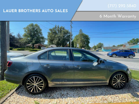 2016 Volkswagen Jetta for sale at LAUER BROTHERS AUTO SALES in Dover PA