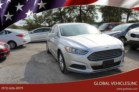 2013 Ford Fusion for sale at Global Vehicles,Inc in Irving TX