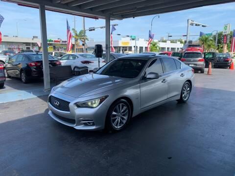 2017 Infiniti Q50 for sale at American Auto Sales in Hialeah FL