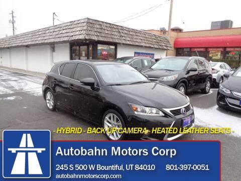 2017 Lexus CT 200h for sale at Autobahn Motors Corp in Bountiful UT