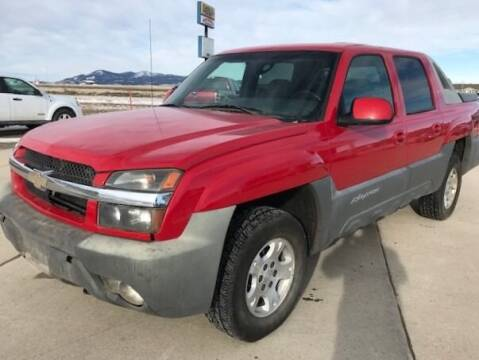 2002 Chevrolet Avalanche for sale at Central City Auto West in Lewistown MT
