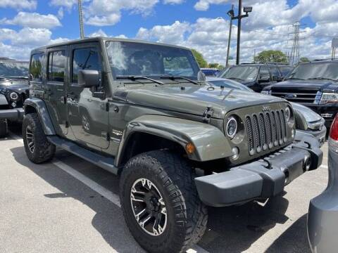2015 Jeep Wrangler Unlimited for sale at SOUTHFIELD QUALITY CARS in Detroit MI