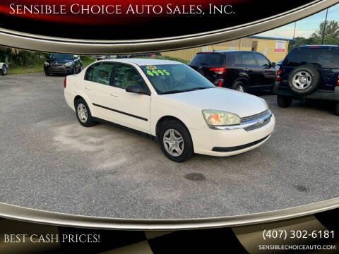 2004 Chevrolet Malibu for sale at Sensible Choice Auto Sales, Inc. in Longwood FL
