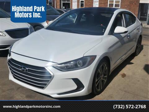 2017 Hyundai Elantra for sale at Highland Park Motors Inc. in Highland Park NJ