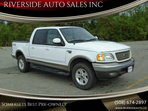2003 Ford F-150 for sale at RIVERSIDE AUTO SALES INC in Somerset MA