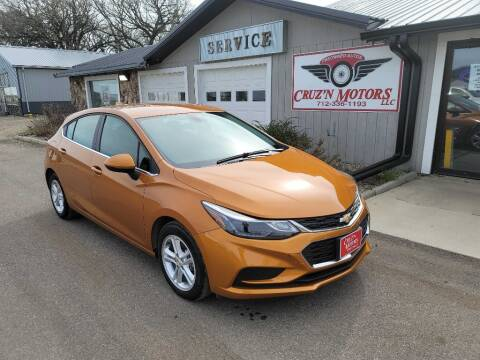 2017 Chevrolet Cruze for sale at CRUZ'N MOTORS in Spirit Lake IA