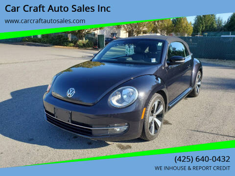 2013 Volkswagen Beetle Convertible for sale at Car Craft Auto Sales Inc in Lynnwood WA