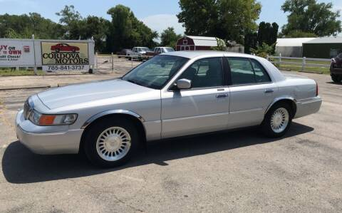 1998 Mercury Grand Marquis for sale at Cordova Motors in Lawrence KS