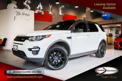 2016 Land Rover Discovery Sport for sale at Quality Auto Center of Springfield in Springfield NJ