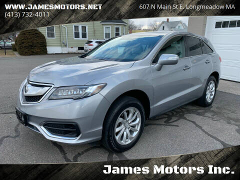 2018 Acura RDX for sale at James Motors Inc. in East Longmeadow MA