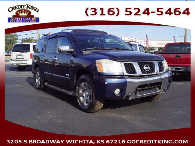 2007 Nissan Armada for sale at Credit King Auto Sales in Wichita KS