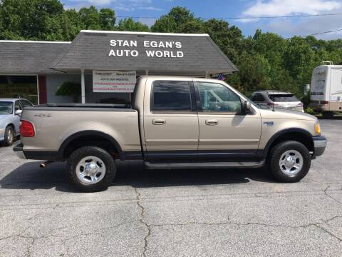 2001 Ford F-150 for sale at STAN EGAN'S AUTO WORLD, INC. in Greer SC